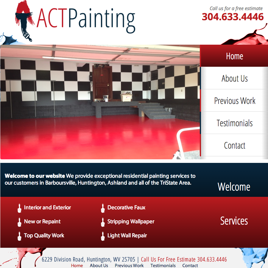 ACTPainting.com Screen Shot