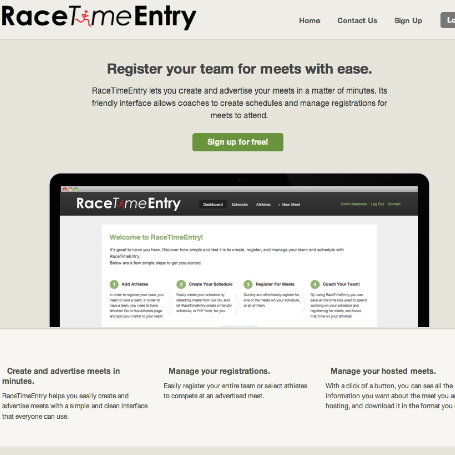 RaceTimeEntry.com.com Screen Shot